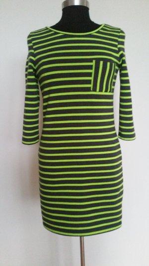 Vero Moda Vestido de tela de sudadera gris oscuro-verde neón Poliéster