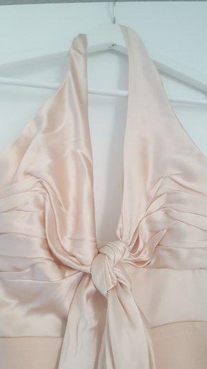 Vestido de cuello Halter rosa-rosa claro