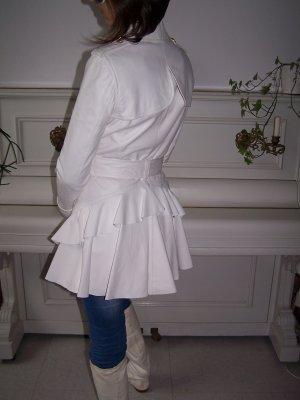 Ein Traum im Weiß Leder Jacke von Versace Gr. 34/36