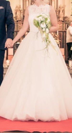 Pronovias Vestido de novia crema-blanco