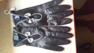Ein Traum von einem Lederhandschuh Gr. 8 in schwarz, grau