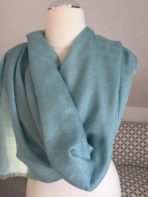 Ein traumhafter Gucci XL Schal/Tuch in einem sehr schönem Türkis