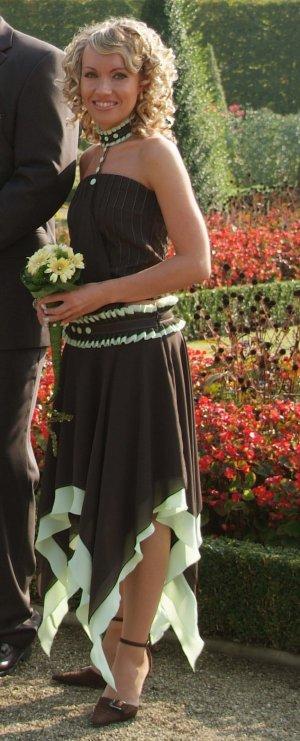 Circle Skirt black brown-mint