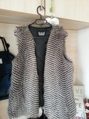 100% Fashion Chaqueta de forro polar color plata