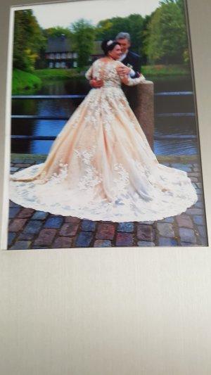 Wedding Dress gold-colored-cream
