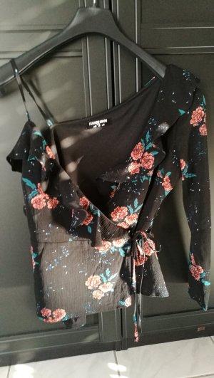 einärmelige Bluse mit Blumenprint