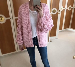 Coarse Knitted Jacket pink