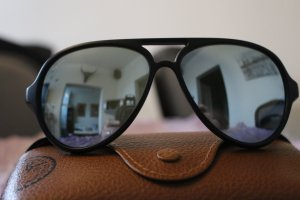 Ray Ban Glasses black-blue synthetic material