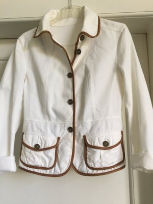 Burberry Jacket white-cognac-coloured