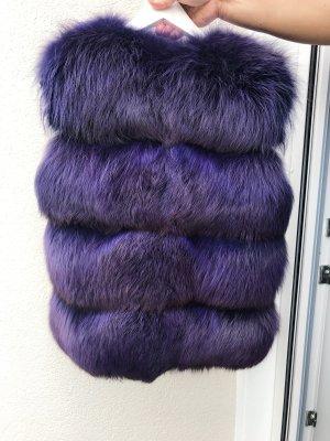 Giacca di pelliccia viola scuro-blu-viola Pelliccia