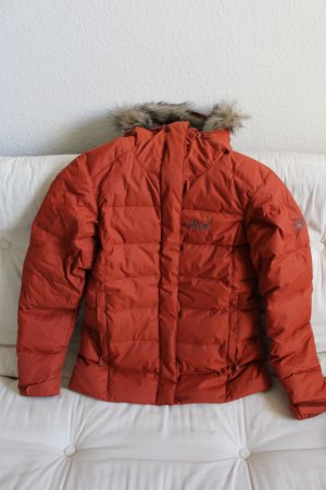 Jack Wolfskin Down Jacket dark orange polyamide