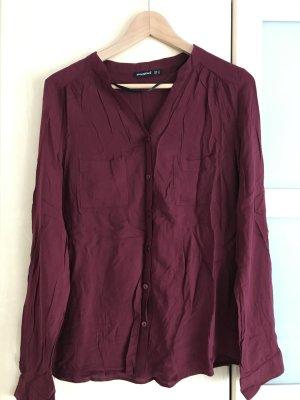 einfache, leichte Bluse in Kaminrot