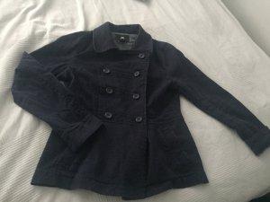 Einfacher Mantel in demin Stoff