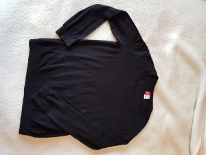 Einfacher schlichter schwarzer Pullover Gr. S