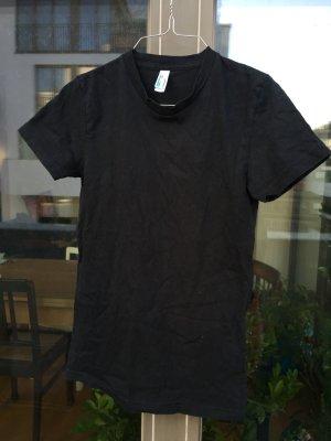 Einfaches schwarzes T-Shirt von American Apparel