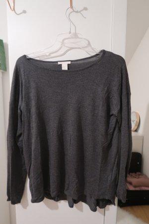 H&M Camicia a tunica grigio scuro