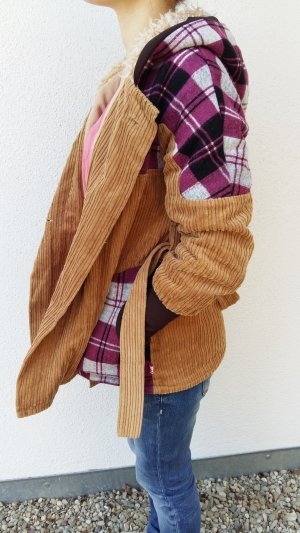 Manteau à capuche multicolore coton