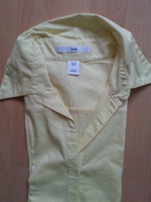 Einfarbiges gelbes Hemd von H&M
