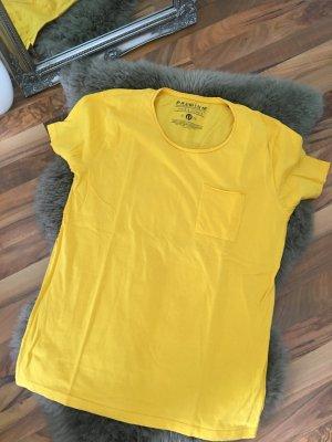 Einfarbiges gelbes T-Shirt in Größe M