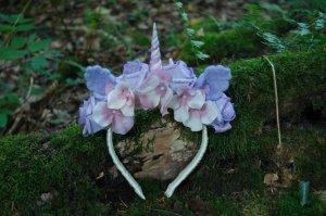 Einhorn Haarkranz / Blumenkrone / Pastel Goth Headpiece / Kawaii Lolita Kopfschmuck