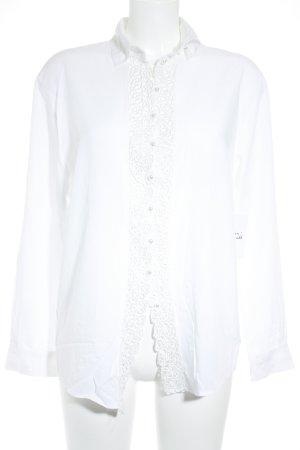 Einhorn Langarm-Bluse weiß Elegant