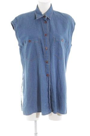Einhorn Long-Bluse blau Casual-Look