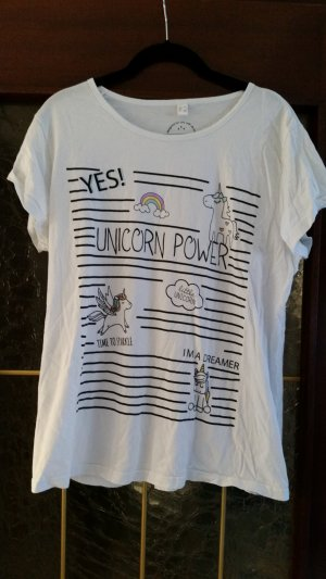 Rainbow Camiseta estampada blanco-negro