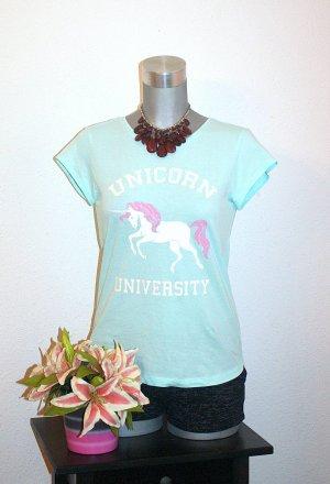 Einhorn Shirt Tshirt Gr. 38/40 Unicorn Pink Glitter