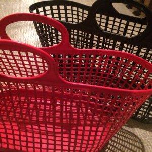 Vintage Basket Bag black-red