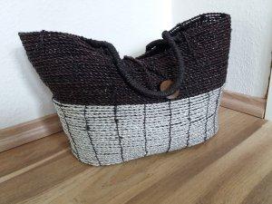 Einkaufskorb Korb modern schwarz silber wie neu