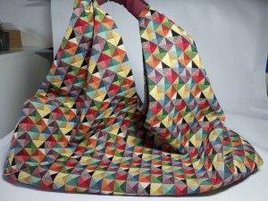 Borsa shopper multicolore Cotone