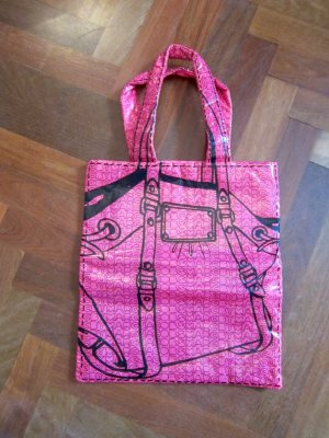 Marc Jacobs Borsa da shopping magenta-nero