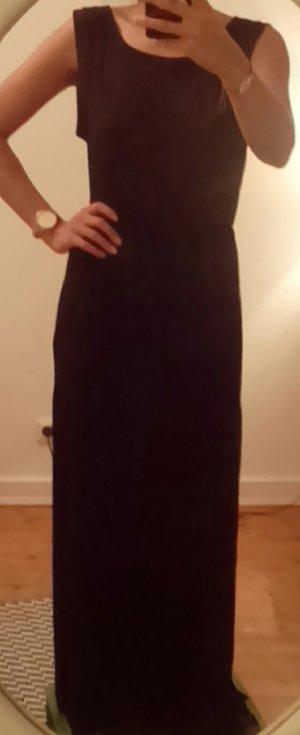 Einmal getragen! Schwarzes, langes Kleid mit seitlichen Schlitzen