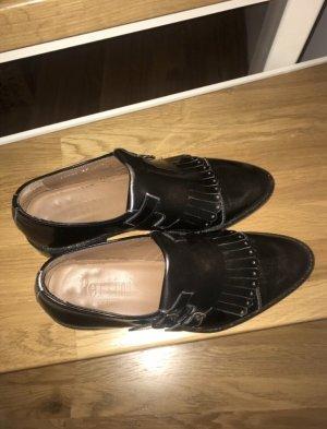 Einmal getragene Pertini Loafer schwarz