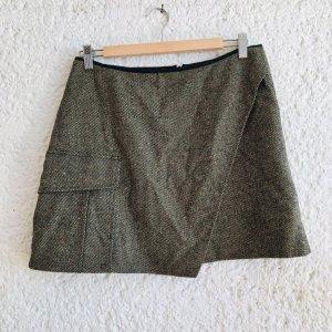 kenzo jungle Tweed Skirt multicolored wool