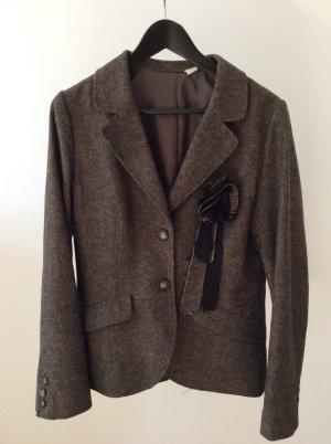 Einreihiger taillierter Tweed Blazer
