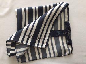 Tommy Hilfiger Mouchoir de poche bleu foncé-blanc soie