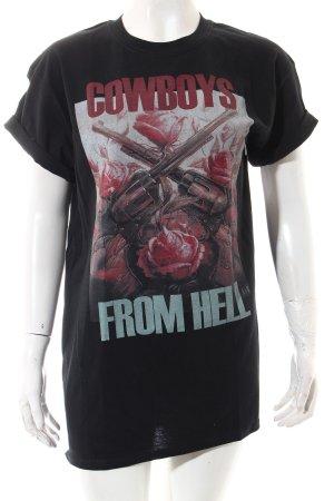 Einstein & Newton T-Shirt schwarz-hellrot Motivdruck Casual-Look