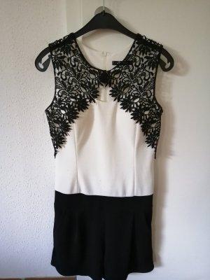 Vestido de baile blanco-negro