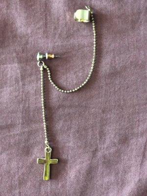 Einzeln Ohrring Kreuz