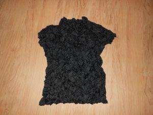 Einzelstück: Außergewöhnliches Shirt; gecrasht; schwarz, Gr. 34-36
