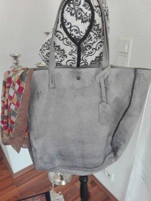 Bolso tipo marsupio gris claro-gris oscuro