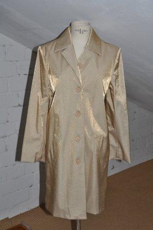 Einzelstück ! Exclusiver Long-Mantel Gold Gr.36 von Chaloc NEU