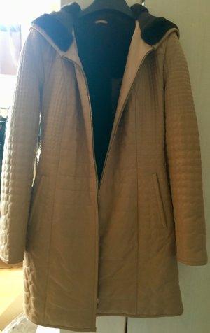 Manteau en cuir chameau-taupe cuir
