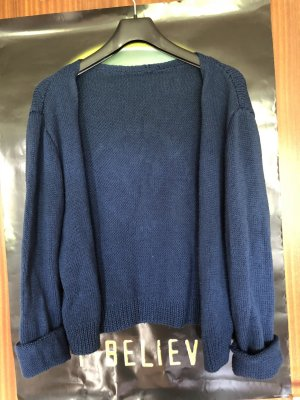 Cardigan all'uncinetto blu