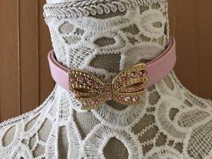 Colliers ras du cou doré-rose clair