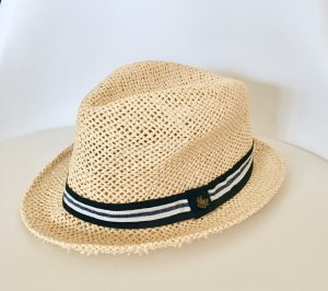 H&M Divided Straw Hat pale yellow-oatmeal