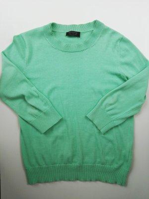 Apanage Pull à manches courtes vert clair-vert gazon coton