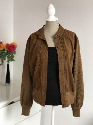 Einzigartige braune leichte Vintage Kurz Jacke