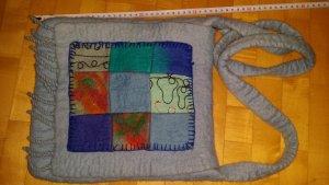 Sac bandoulière multicolore laine